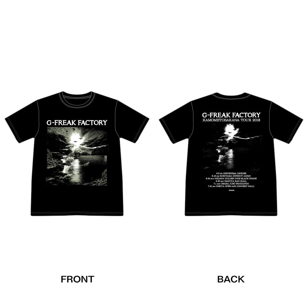 """G-FREAK FACTORY""""カモメトサカナ""""TOUR T-SHIRTS(ブラック / グリーン)"""