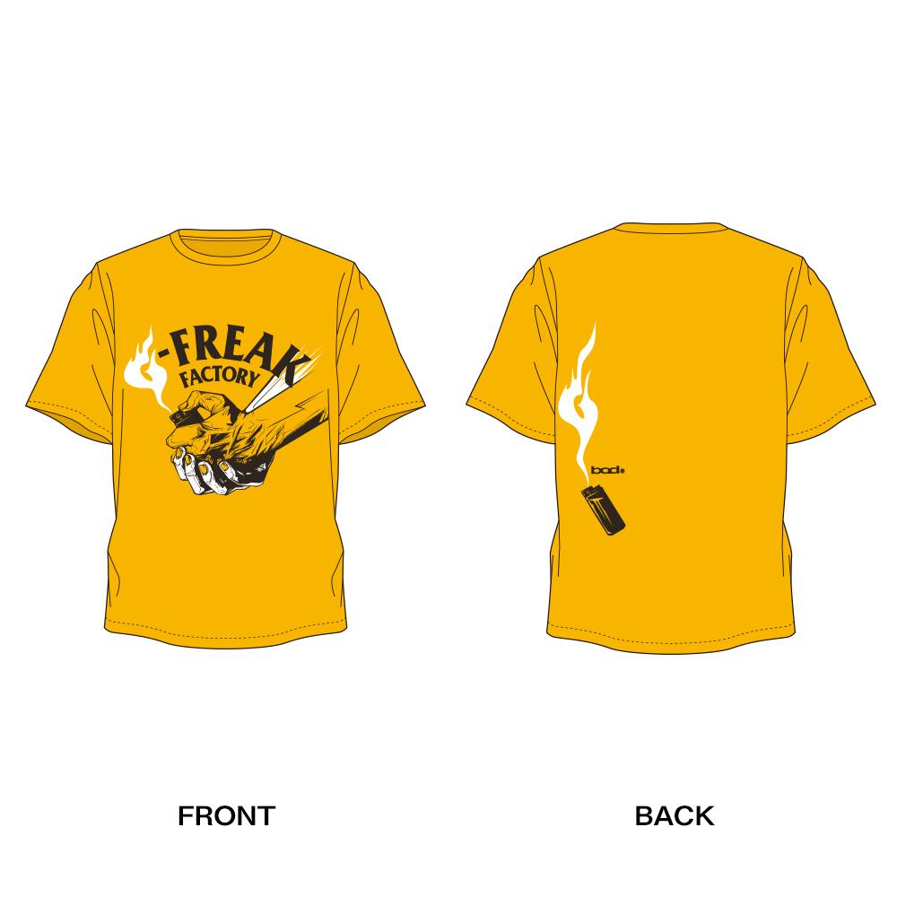 "G-FREAK FACTORY""Catch a Fire"" Tシャツ(ブラック / サンドカーキ / ゴールド)"