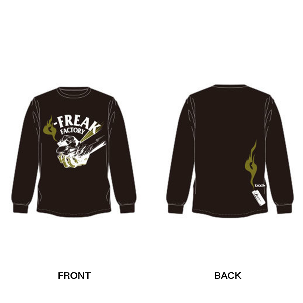 "G-FREAK FACTORY""Catch a Fire"" ロングスリーブTシャツ(ブラック / ホワイト)"