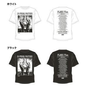 """""""FLARE/Fire""""TOUR Tシャツ(ホワイト / ブラック)"""