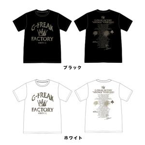 VINTAGE TOUR Tシャツ(ブラック / ホワイト)